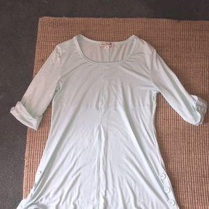 Long blue Simple Noelle Shirt